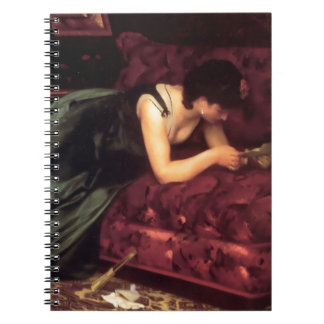 Woman Reading Love letter painting Spiral Note Book