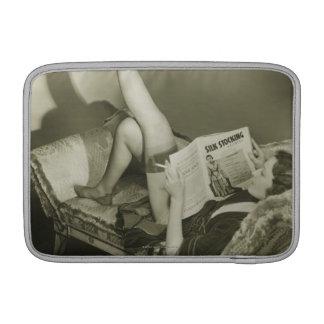 Woman Reading Magazine MacBook Air Sleeve