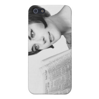 Woman Reading Newpaper Case For iPhone SE/5/5s