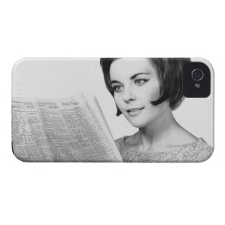 Woman Reading Newpaper iPhone 4 Case-Mate Case