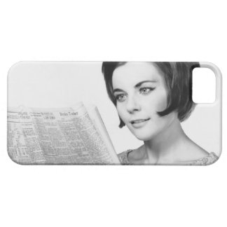 Woman Reading Newpaper iPhone SE/5/5s Case