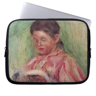 Woman Reading (oil on canvas) Laptop Sleeve