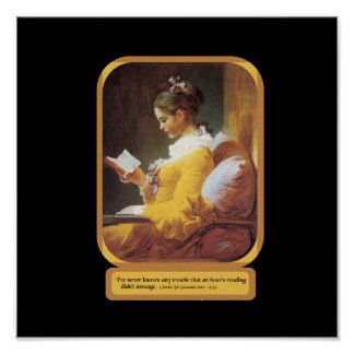 Woman Reading Poster