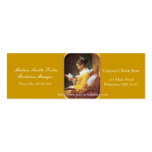 Woman reading regular business card zazzle for Business cards for women