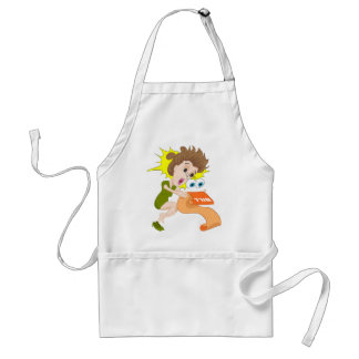 Woman Reading Shocking Bill Adult Apron