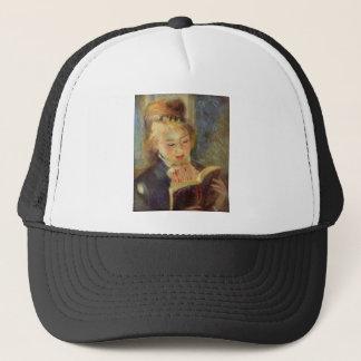 Woman Reading Trucker Hat