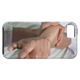 Woman receiving foot massage 2 iPhone SE/5/5s case
