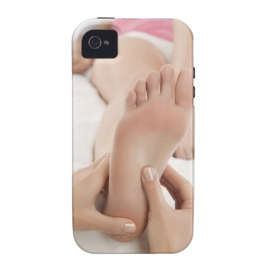 Woman receiving foot massage iPhone 4/4S cover