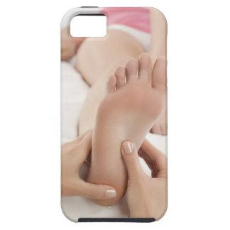 Woman receiving foot massage iPhone SE/5/5s case