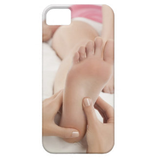 Woman receiving foot massage iPhone SE/5/5s case
