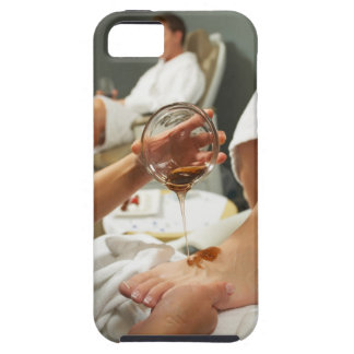Woman receiving foot massage with oil iPhone SE/5/5s case