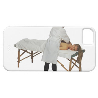 Woman receiving massage 2 iPhone SE/5/5s case