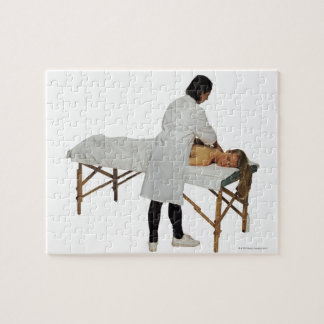 Woman receiving massage 2 jigsaw puzzle
