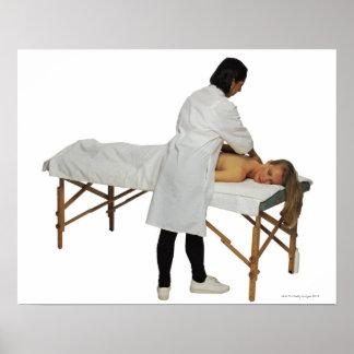 Woman receiving massage 2 poster