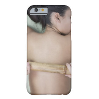 Woman receiving spa treatment barely there iPhone 6 case