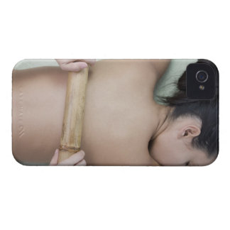 Woman receiving spa treatment iPhone 4 covers