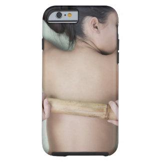 Woman receiving spa treatment tough iPhone 6 case