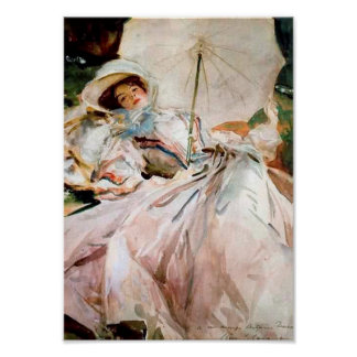 Woman Reclined Vintage Art Poster