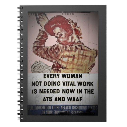 Woman Recruitment for ATS and WAAF Notebook