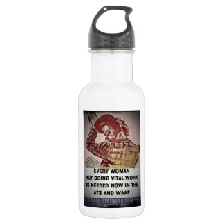 Woman Recruitment for ATS and WAAF Stainless Steel Water Bottle