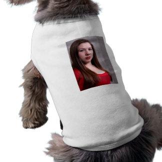 Woman Red Dress Shirt