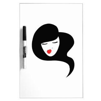 Woman Red Lipstick Dry-Erase Boards