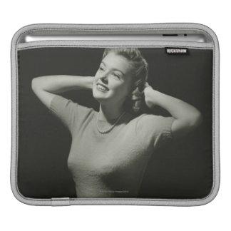 Woman Relaxing iPad Sleeve