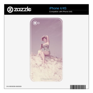Woman Relaxing on Beach Skin For The iPhone 4S