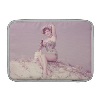 Woman Relaxing on Beach Sleeve For MacBook Air