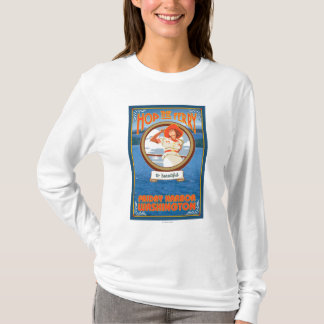 Woman Riding Ferry - Friday Harbor, Washington T-Shirt