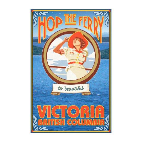Woman Riding Ferry - Victoria, BC Canada Canvas Print