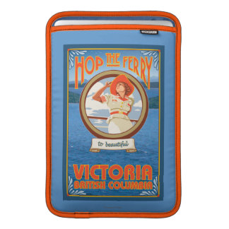 Woman Riding Ferry - Victoria, BC Canada Sleeves For MacBook Air