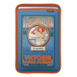 Woman Riding Ferry - Victoria, BC Canada MacBook Sleeve