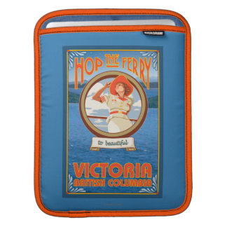 Woman Riding Ferry - Victoria, BC Canada iPad Sleeves