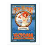 Woman Riding Ferry - Victoria, BC Canada Postcard