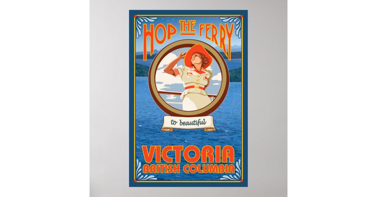 Woman Riding Ferry Victoria Bc Canada Poster Zazzle Com