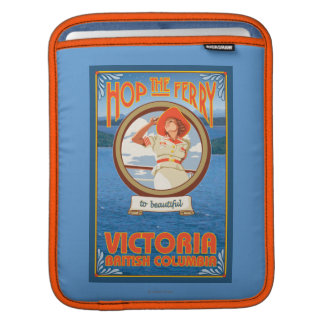 Woman Riding Ferry - Victoria, BC Canada Sleeves For iPads