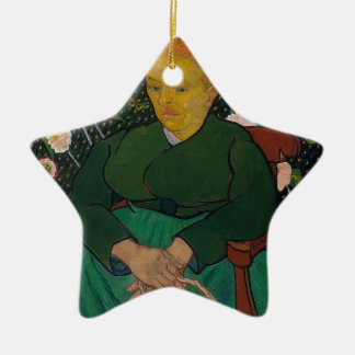 Woman Rocking a Cradle Ceramic Ornament