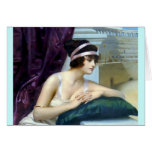 Woman Roman Colosseum painting Greeting Card