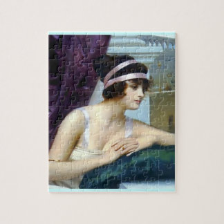 Woman Roman Colosseum painting Jigsaw Puzzle