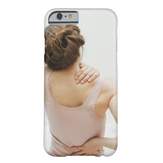 Woman rubbing aching back barely there iPhone 6 case