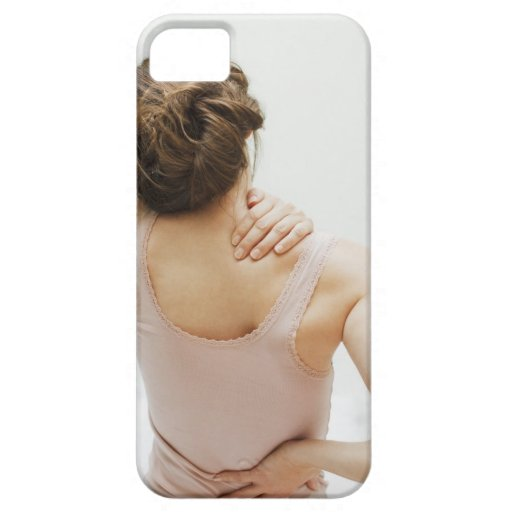Woman rubbing aching back iPhone SE/5/5s case
