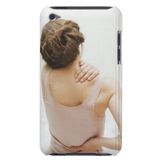 Woman rubbing aching back iPod Case-Mate cases