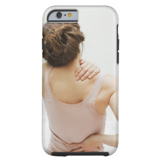Woman rubbing aching back tough iPhone 6 case
