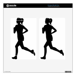 Woman Running Skin For Kindle Fire