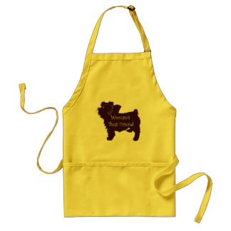 Woman's Best Friend dog silhouette of toy terrier Adult Apron