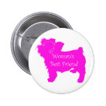 Woman's Best Friend silhouette of pink toy terrier Buttons