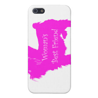 Woman's Best Friend silhouette of pink toy terrier Covers For iPhone 5
