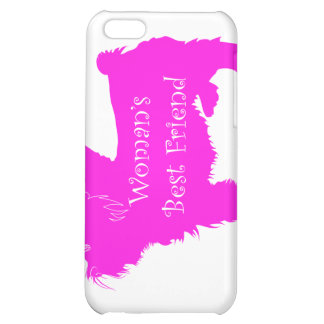 Woman's Best Friend silhouette of pink toy terrier iPhone 5C Cases