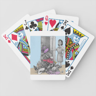 Woman's Stuff Falls Out of Closet Bicycle Playing Cards
